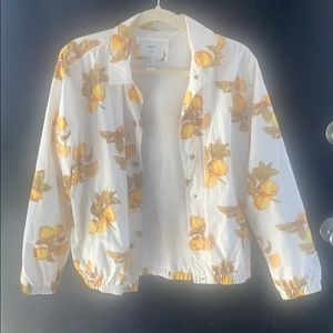 White bomber jacket with lemons